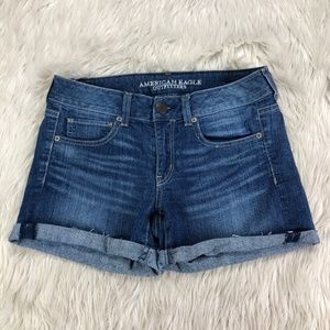 American Eagle Outfitters Cuffed Denim Shorts